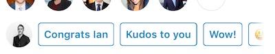 Kudos To You Button